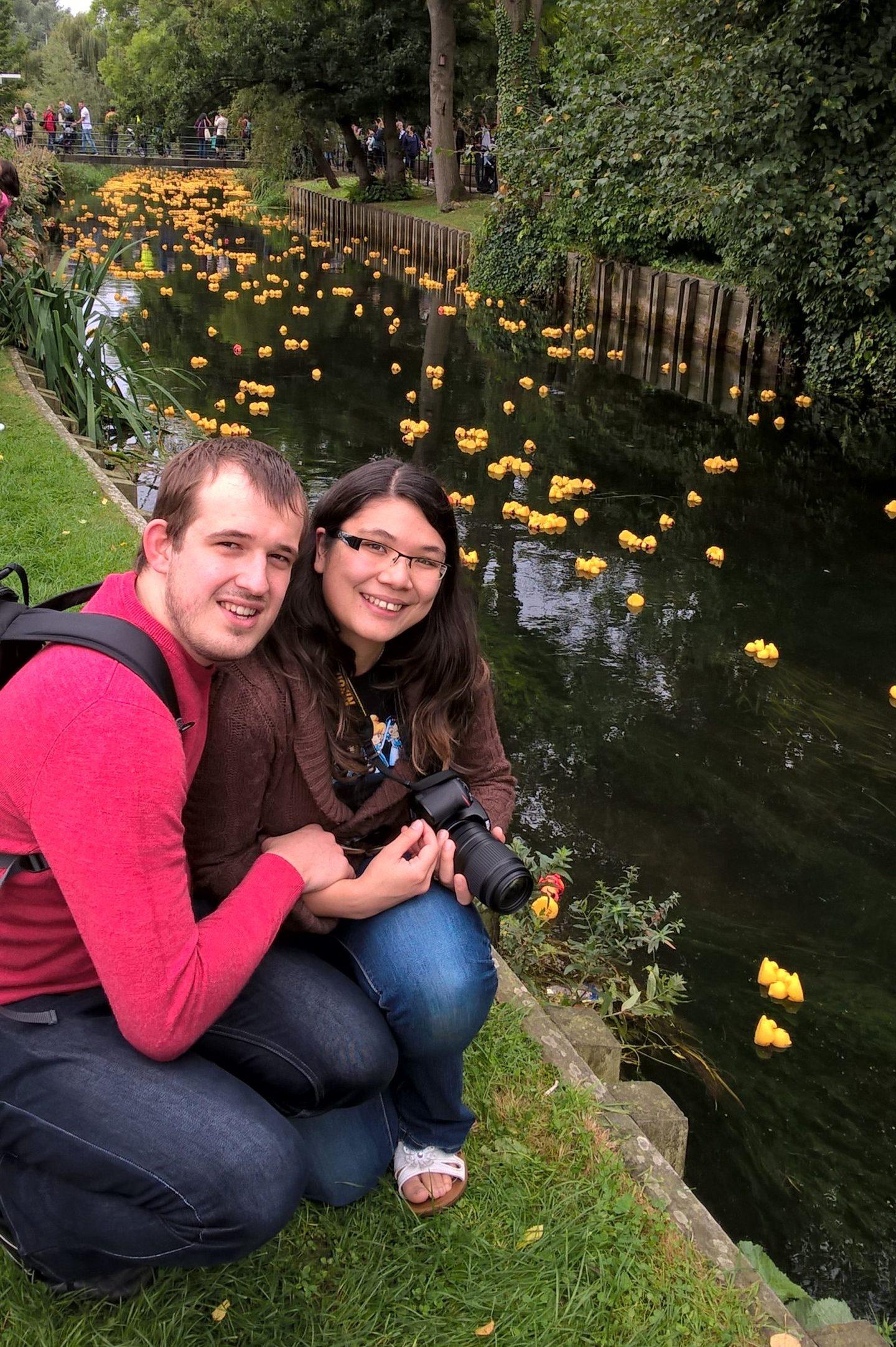 Kalysha & Simon at Canterbury Duck Race