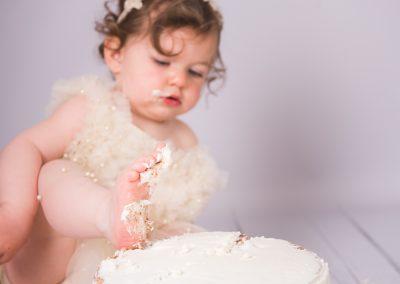 1st birthday cake smash photography